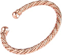 Sunwing ROSE Gold Plated Fashion Gift Pure Copper Alloy Torque Healthy Magnetic Power Bracelet Bangle Adjustable B59g