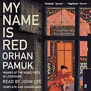 My Name Is Red                   Written by:                                                                                                                                 Orhan Pamuk                               Narrated by:                                                                                                                                 John Lee                      Length: 20 hrs and 23 mins     1 rating     Overall 4.0