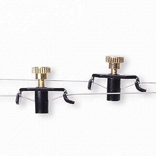 ruiycltd 2Pcs Professional Erhu Fine Tuner String Tuning Adjustment Violin Accessory Halloween Gift Black