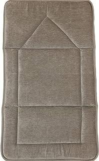 Modefa Foldable Orthopedic Padded Thick Foam Cushion Velvet Muslim Prayer Rug Carpet Sajadah Janamaz with Free Digital Tesbih Counter (Beige)