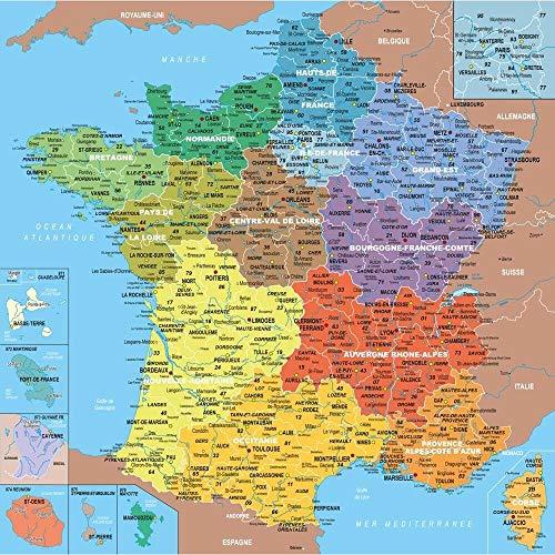 Puzzle en Bois 24 pièces : Carte de France des régions