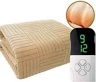 LCZ Super King Size Electric Blanket Double Contrôle, 180X200-9 Chauffent - Construit en Système De Protection Avancée Sur...