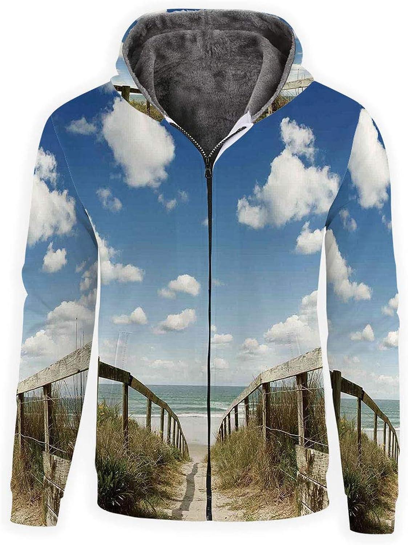 IPrint Hoodie Zipper Unisex 3D Hoodies Sweatshirts Beach