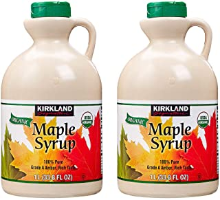 Maple Syrup 2Liters Grade A Product of Canada - Halal - 100% Pure Amber Rich Taste (2 x 1L Bottles)