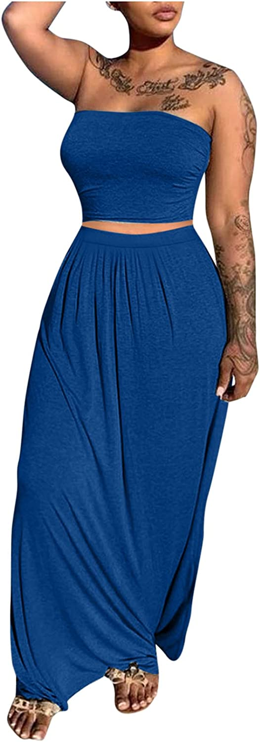 Summer Women Solid Top Jacksonville Mall Slit Casual S Long Loose Skirt Maxi Dress Ranking TOP6