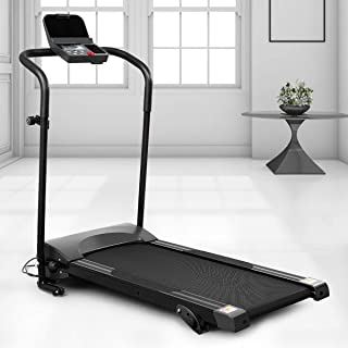 CLISPEED Folding Walking Treadmill with Device Holder for Home/Office Exercise