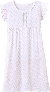 Alltops Little Girls Velvet Long Sleeve Nightdress Lace Bowknot Princess Nighties Nightgown Sleepwear 3-10Y