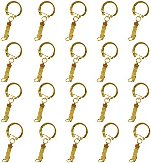 Lovoski 20pcs DIY Jewelry Chains Key Rings Key Chain Buckle Keychains Accessories