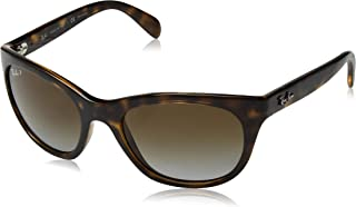 RB4216 Square Sunglasses, Light Havana/Polarized Brown...