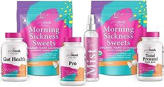 Pink Stork Premier Bundle: Pregnancy Bundle with 6 Products, Morning Sickness Relief + Prenatal Vitamins + Magnesium Mist, Women-Owned