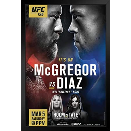CONOR McGREGOR The Notorious PHOTO Print POSTER UFC MMA Champion Nate Diaz 002