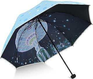Sun Protection UV Ladies Umbrellas Umbrella Umbrellas Portable Folding Umbrellas HYBKY (Color : Blue)