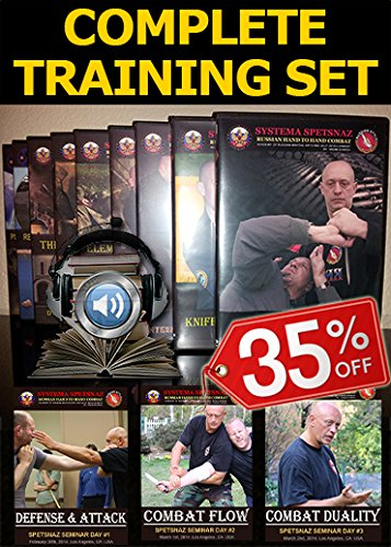Russian Martial Arts DVDs - Street Self Defense Training Videos of Russian Systema Spetsnaz Hand-to-Hand Combat. Martial Arts Instructional DVDs, 20 DVD Set in English to Learn self-Defense at Home.