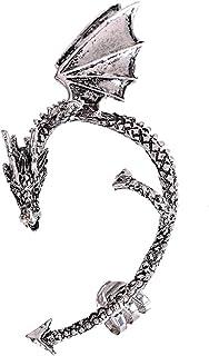 Guangcailun Loop Decorazioni Donne Punk orecchino del Polsino dell'orecchio dei monili della Lega dell'orecchio, Argento A...