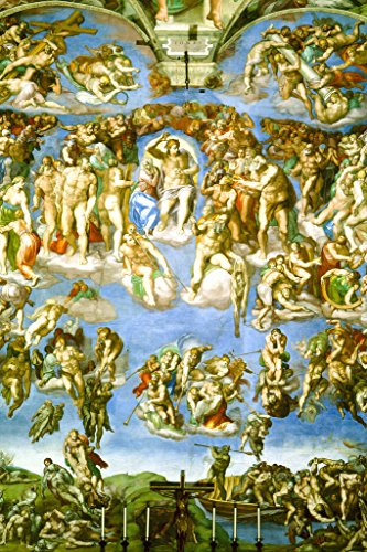 Michelangelo The Last Judgment Fresco Sistine Chapel Vatican City Poster 12x18