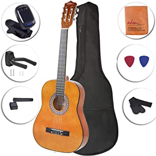 Beginner Classical Guitar 3/4 Size 36 Inch Spruce Wooden Guitar for Students, Kids