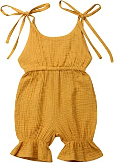 Yaoyaou Infant Baby Girl Romper Overall Bowknot Sleeveless Newborn Toddler Jumpsuit Bodysuit Clothes Outfits