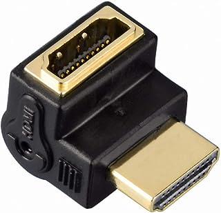 Hama HDMI™ Winkel Adapter High Speed (90° Winkel, HD ready, HDMI™ Stecker auf HDMI™ Buchse, vergoldete Kontakte) schwarz