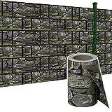 SAILUN 65m x 19cm Sichtschutzstreifen mit 30 x Befestigungsclipse Sichtschutz Streifen Doppelstabmattenzaun PVC Blickdicht für Einzel- und Doppelstabmatten geeignet (65m x 19cm,...