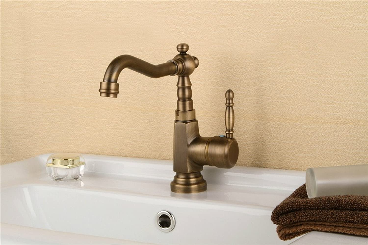 GQLB Simple copper plated spanner faucet sitting basin faucet