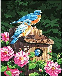 Framed Wall Art Paintings For Bedroom, Parrot Sunflower Wall Decoration For Living Room, Poster Print Artwork For Hotels (...