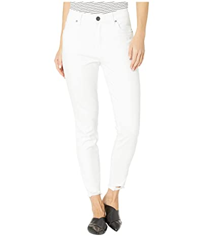KUT from the Kloth Connie High-Rise Ankle Skinny in Optic White (Optic White) Women