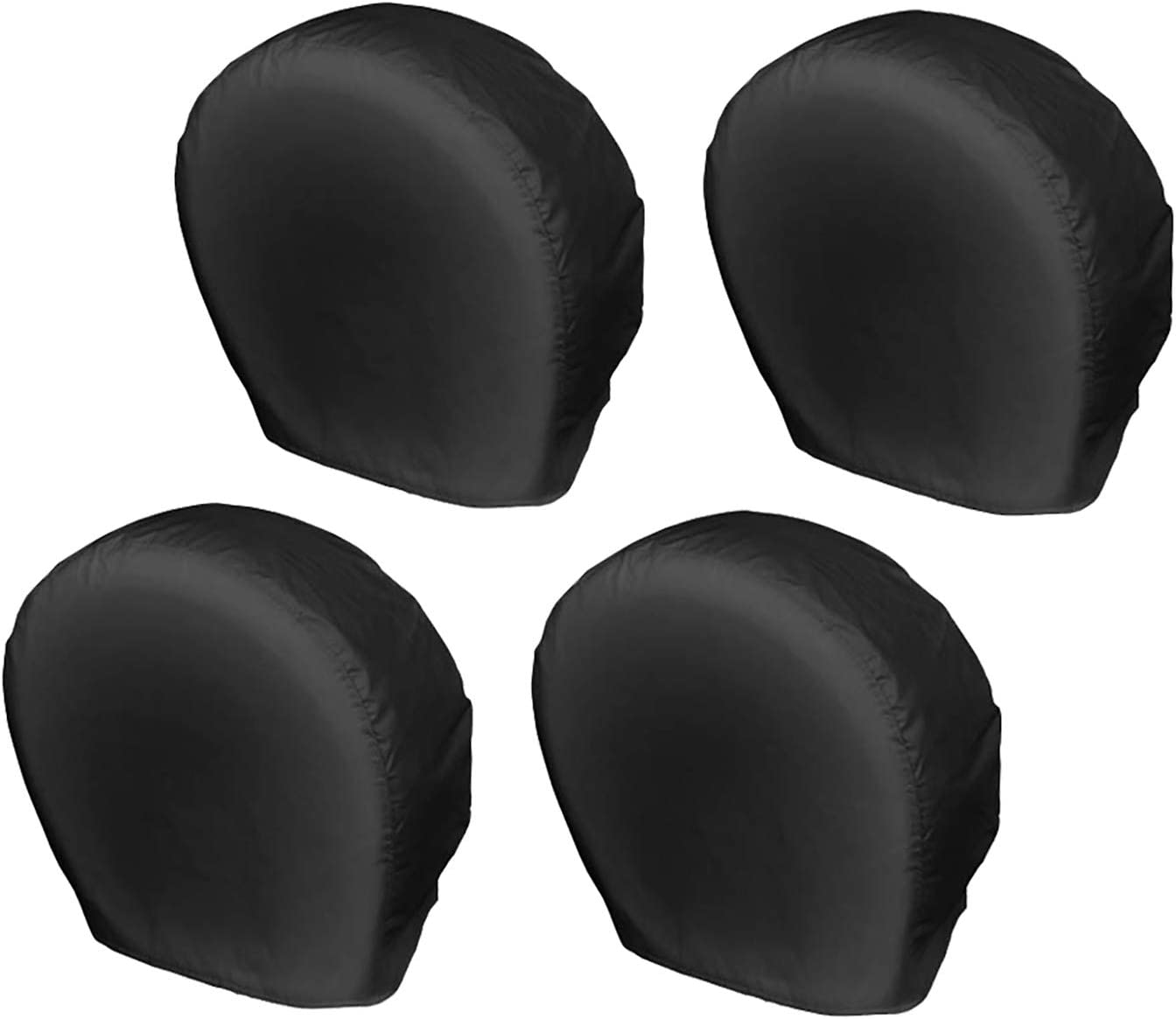Explore Land Tire Covers 4 Pack - Tough Tire Wheel Protector for Truck, SUV, Trailer, Camper, RV - Universal Fits Tire Diameters 26-28.75 inches, Black