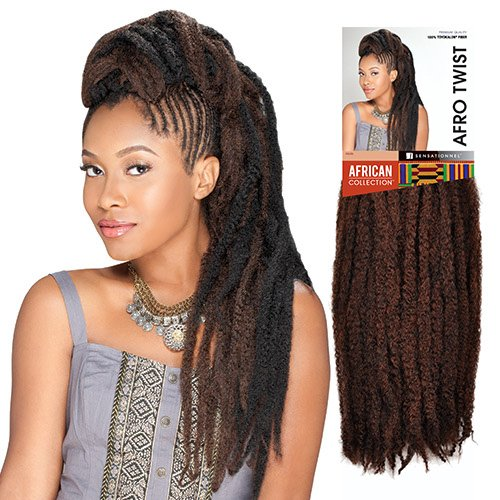 Sensationnel Synthetic Hair Braids Soft & Silky Afro Twist Braids (M130/1B)