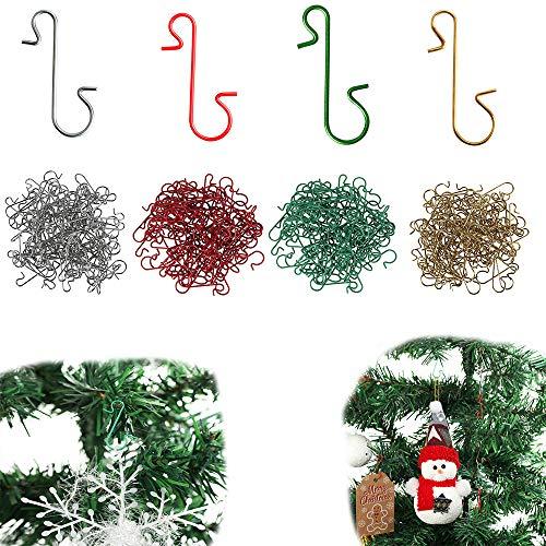 JunFeng 120 Pz Ganci per Palline Natalizie in Metallo,Palline di Decorazioni Natalizie per Decorazioni per Alberi di Natale,Decorazioni Natalizie da Appendere