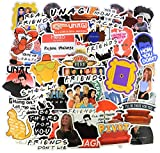 A Sticker Shop [54pcs Friends tv Show Creative DIY Stickers Funny Decorative Cartoon for Cartoon PC Luggage Computer Notebook Phone Home Wall Garden Window Snowboard