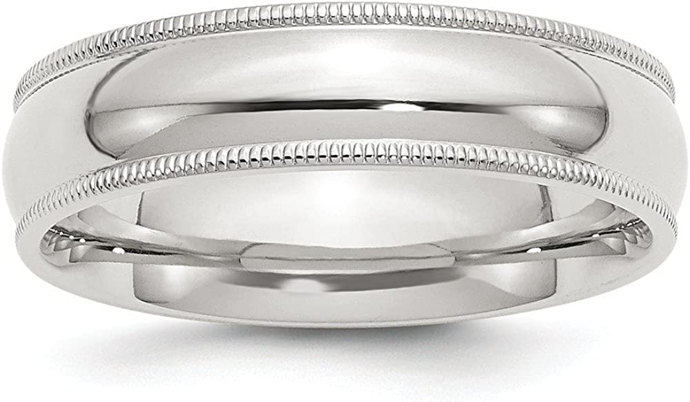 925 Sterling Silver Millgrain Comfort Jewelry Fit Tampa Store Mall Gift Band Ring