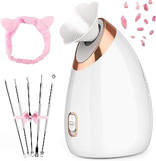 Vapeur Visage Vaporisateur, Nivlan Sauna Facial Vapeur avec Réservoir D'eau de 135ml, SPA Facial Steamer pour Les Pores Hy...