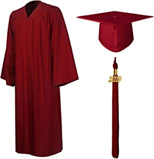 Matte Graduation Gown Cap Tassel Set 2019 for High School and Bachelor