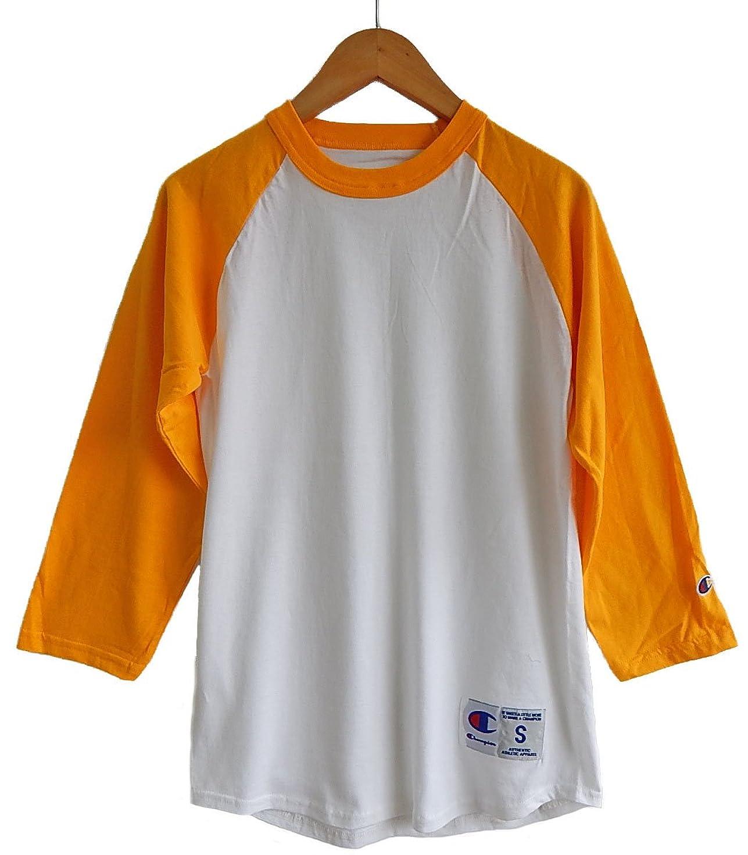 性差別仕事約束する(チャンピオン) CHAMPION ラグラン ベースボールシャツ (XL, WHITE/GOLD) [並行輸入品]