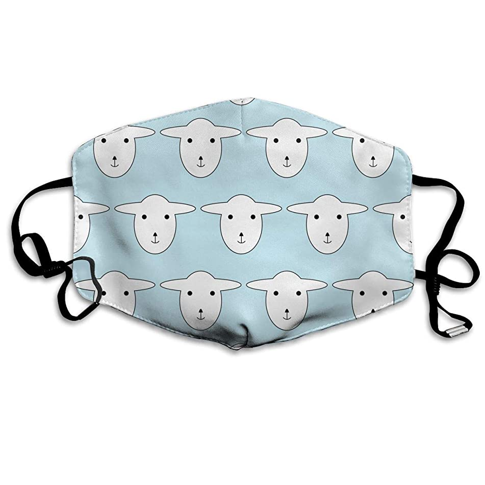Sam-Uncle Anti Dust Face Mouth Cover Mask Sheep Image Anti Pollution Breath Healthy Mask