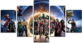 hcozy Print Painting Canvas, 5 Pieces The Avengers Infinite War Canvas Wall Art Painting for Home Living Room Office Mordern Decoration Gift(Unframed)…