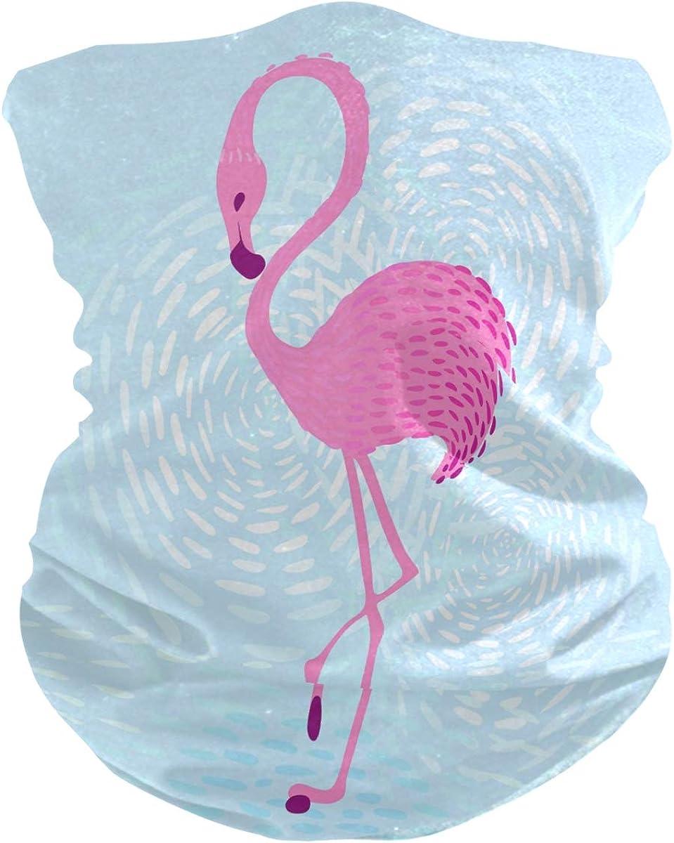 Bandana Face Scarf Neck Gaiter Flamingo Headwear Headband for Fishing Cycling Hiking Camping