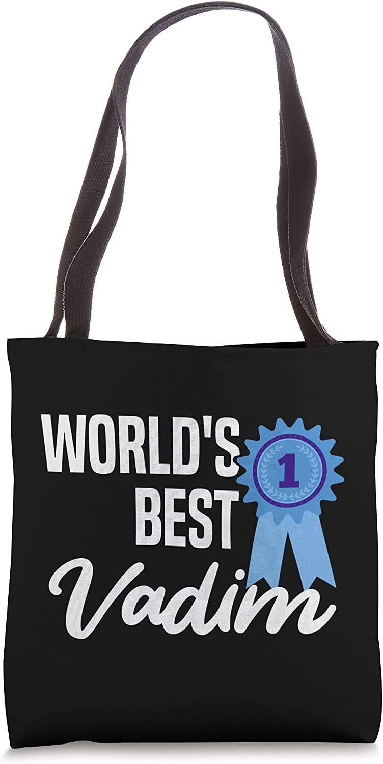World's Best Vadim Name Personalized Tote Bag