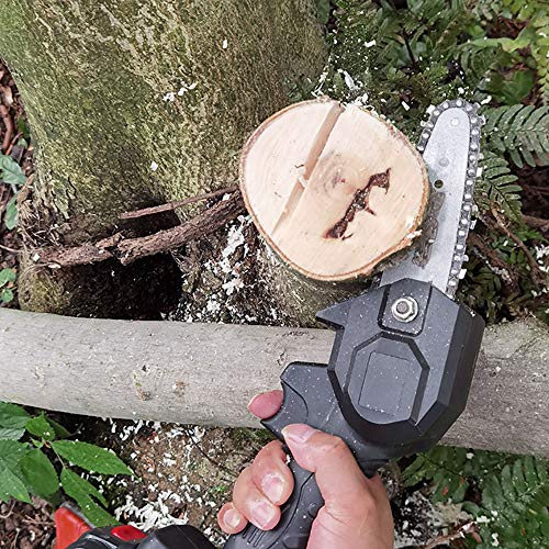 MOTOKER Battery Lopper Cordless Chainsaw, 4 inch Electric Lopper Chain Saw with 2AH Lithium Battery