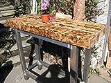 Natural Mente - Mesa de bar de diseño, estilo industrial, 130 x 46,5 cm, altura de 110 cm