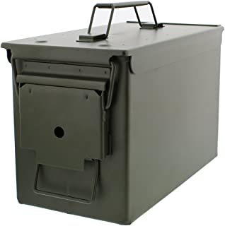 Redneck Convent Metal Ammo Case Can � Military and Army Solid Steel Holder Box for Long-Term Shotgun Rifle Nerf Gun Ammo Storage