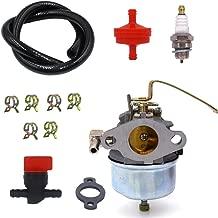 NIMTEK Carburetor with Spark Plug Fuel Hose Shut Off Valve for Tecumseh 631918 HS40 4HP HS50 5HP Engine Carb