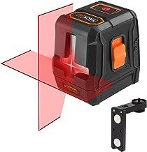 Nivel Láser Avanzado, TACKLIFE 15m Nivelador Autonivelante Cruzado, Láser de líneas Automática 110° Horizontal/Vertical, IP54, 35m con Receptor Láser, con Soporte Magnético - SC-L07