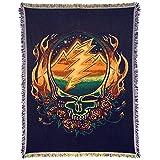 Little Hippie Grateful Dead Scarlet Fire Stealie Woven Cotton Blanket