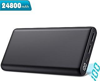Trswyop Batería Externa 24800mAh, Power Bank [Nueva Versión 2019] Ultra Velocidad Capacidad 2 Puertos Pantalla LCD Carga Rápido Cargador Portátil para Móvil Compatible con Smartphones Tabletts y Más