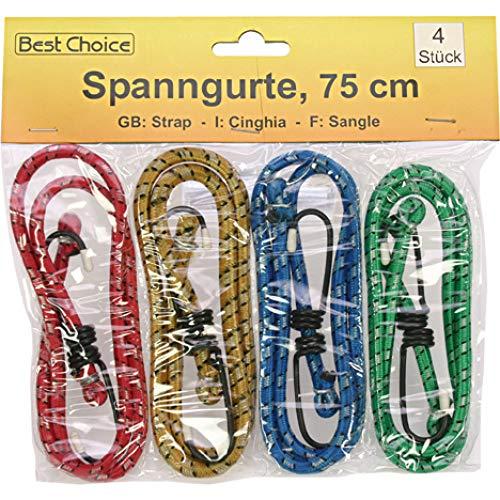 Products Spanngummi 4er-Set in 4 Farben 75cm Spanngurt dehnbar Gepäckgummi Gepäckgurt