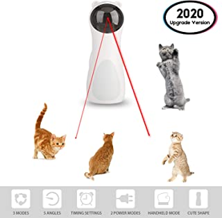 EliveSpm Cat Laser Toy-Automatic Rotating Lazer Pointer with 5 Stage Rotating Projection Angle and 3 Speed Modes-Interactive Lazer Toys for Cats&Dogs