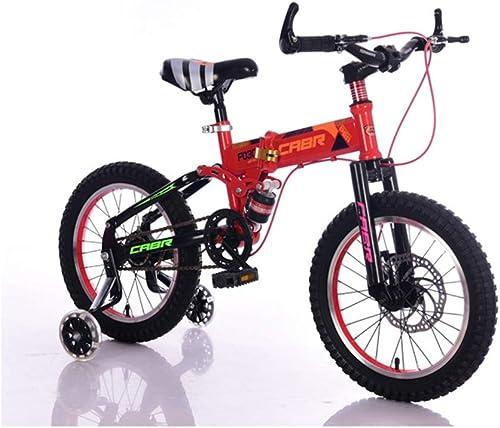 1-1 Vélos Pliants vélo de Montagne des Gamins De Plein air Absorption des Chocs Seule Vitesse Frein à Disque Double 16 Pouces