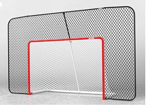 Acon Wave Hockey Combo   Beinhaltet offizielle Größe Hockeytor, Hockeynetz und rechteckiges Backstop-Netz