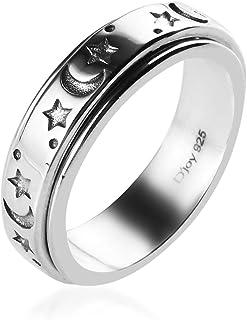 Mens Womens Spinner Band Ring 925 Sterling Silver Statement Boho Handmade Fashio